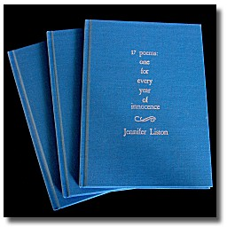 17 poems - Irish poet Jennifer Liston's second collection